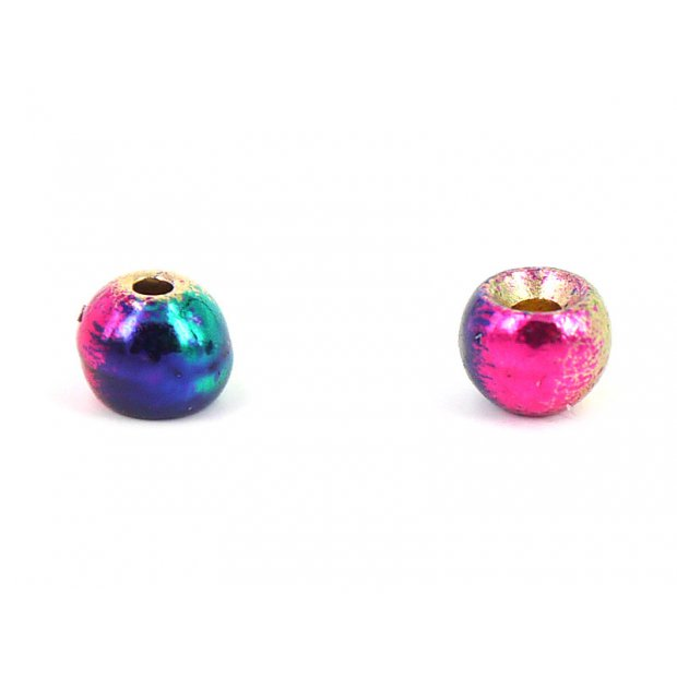 Brass beads - RAINBOW - 25 pc.