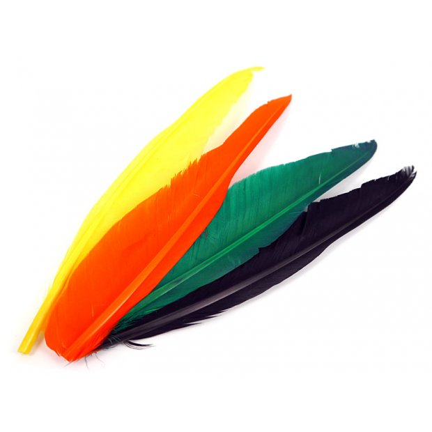 GOOSE QUILL FEATHER hotfly - 1 pc. - ca. 25 cm