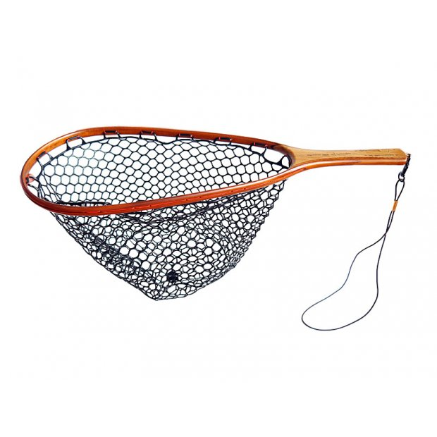 Wooden landing net EXCELLENCE PROTECT - handmade in Italy - dark