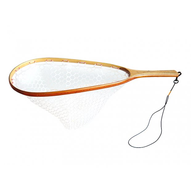Wooden landing net EXCELLENCE GHOST PROTECT - handmade in Italy - clear