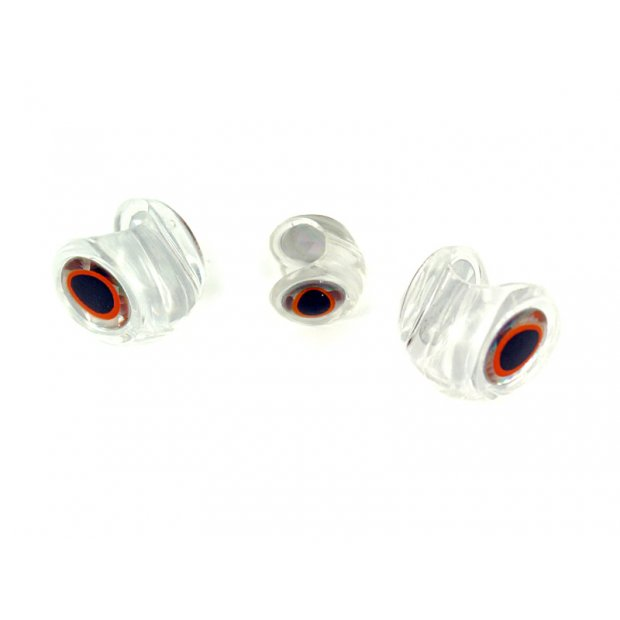 CLEAR FISH HEADS WITH 3D EYES hotfly - 10 pc.